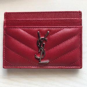 YSL Red cardholder